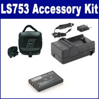 Kodak LS753 Digital Camera Accessory Kit includes: SDC-27 Case, SDNP60 Battery, SDM-143 Charger