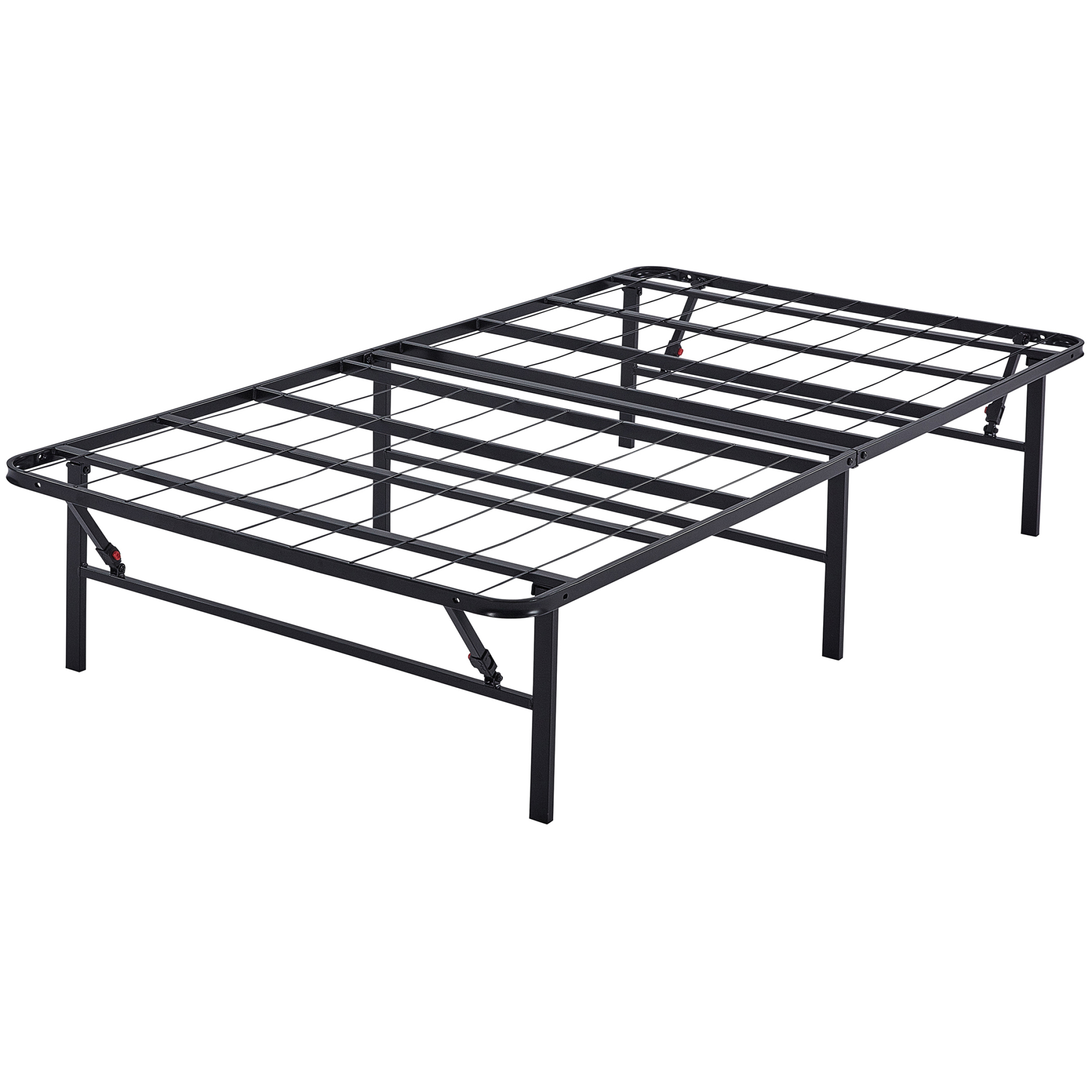 "Mainstays High Profile Foldable Steel 14"" Bed Frame, Powder-coated Steel"