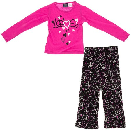 Fancy Girlz Brand Girls Pink Love Pajamas - Fancy Girls Pajamas