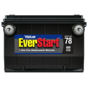 EverStart Value Lead Acid Automotive Battery, Group Size 78