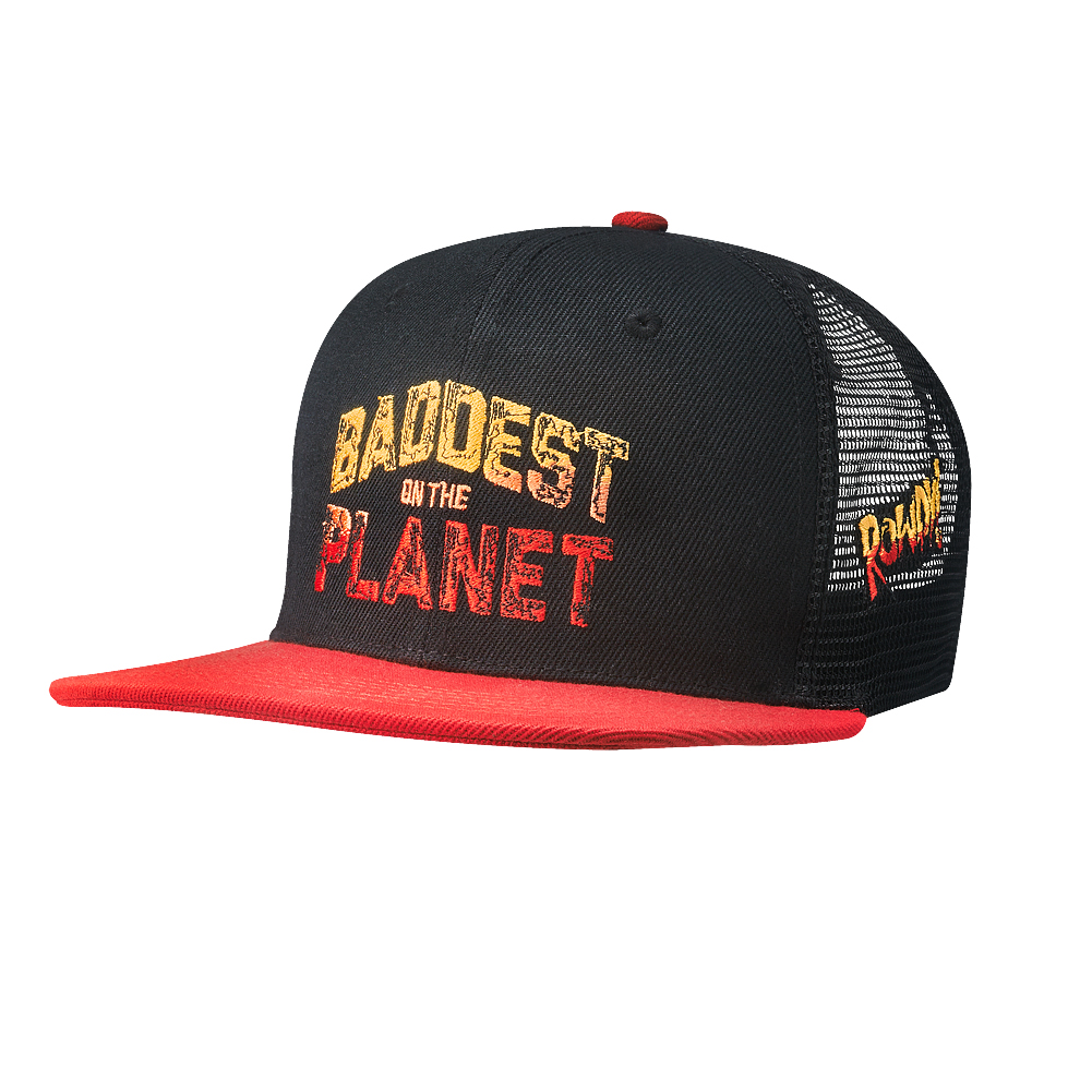 "Official WWE Authentic Ronda Rousey ""Baddest on the Planet"" Snapback Hat Multi"