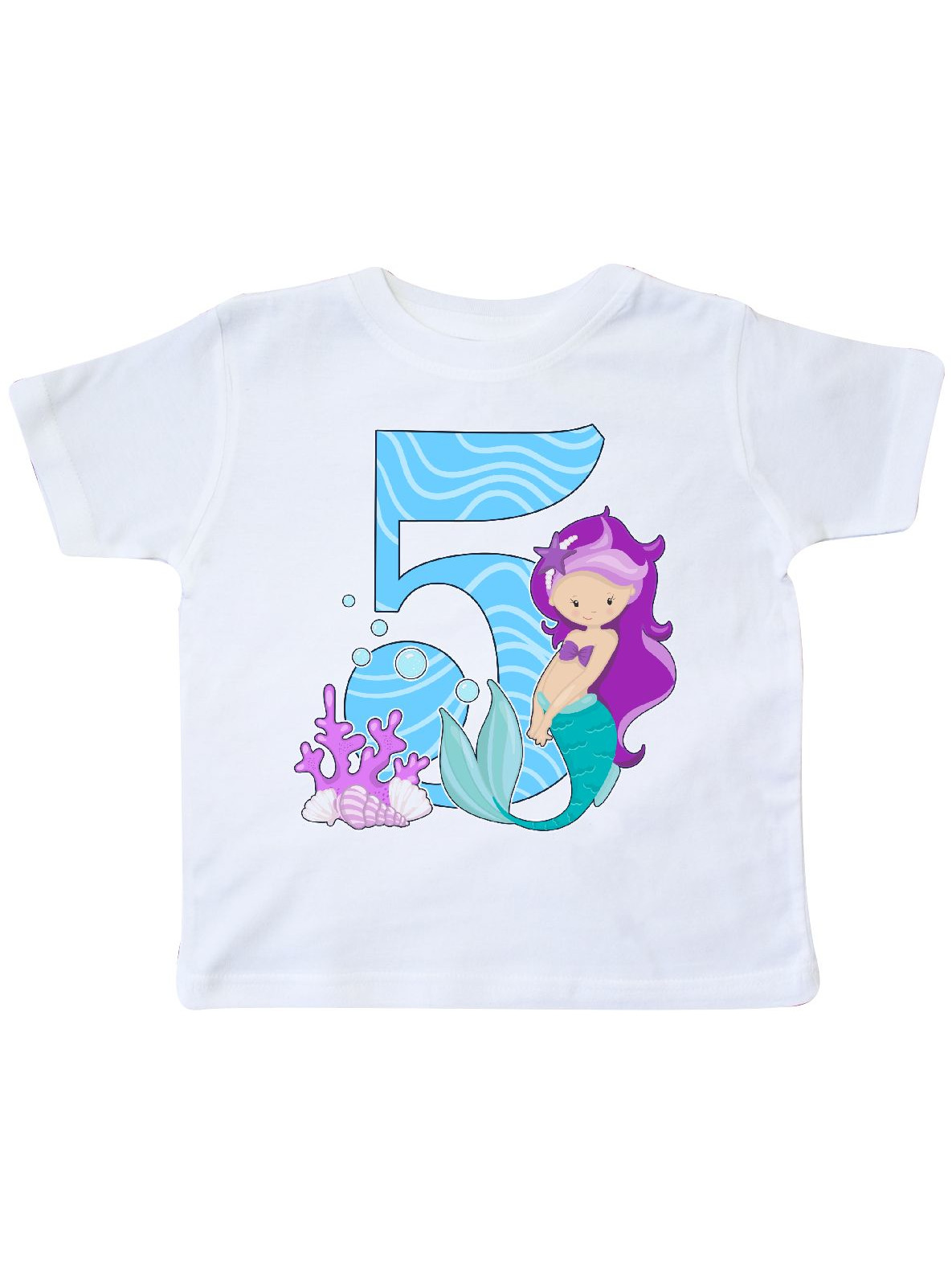 Fifth Birthday Mermaid Toddler T Shirt