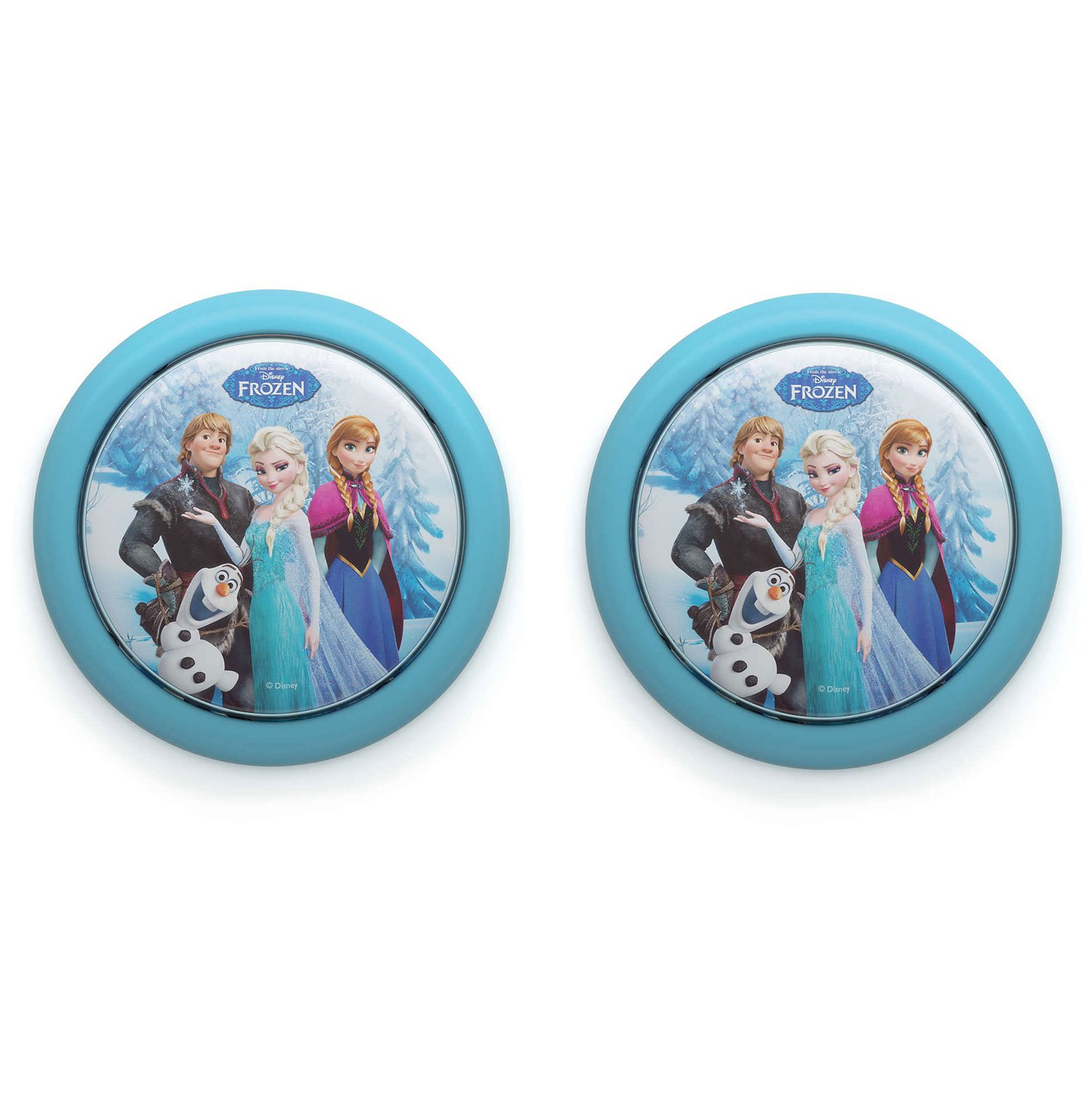 Philips Disney Frozen Elsa Anna Olaf Battery LED Push Touch Night Light (2 Pack)
