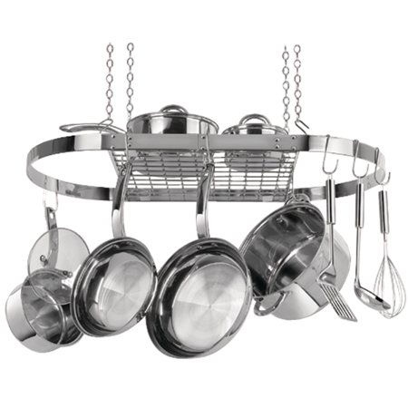 (Range Kleen CW6001R Oval Hanging Pot Rack (stainless Steel))