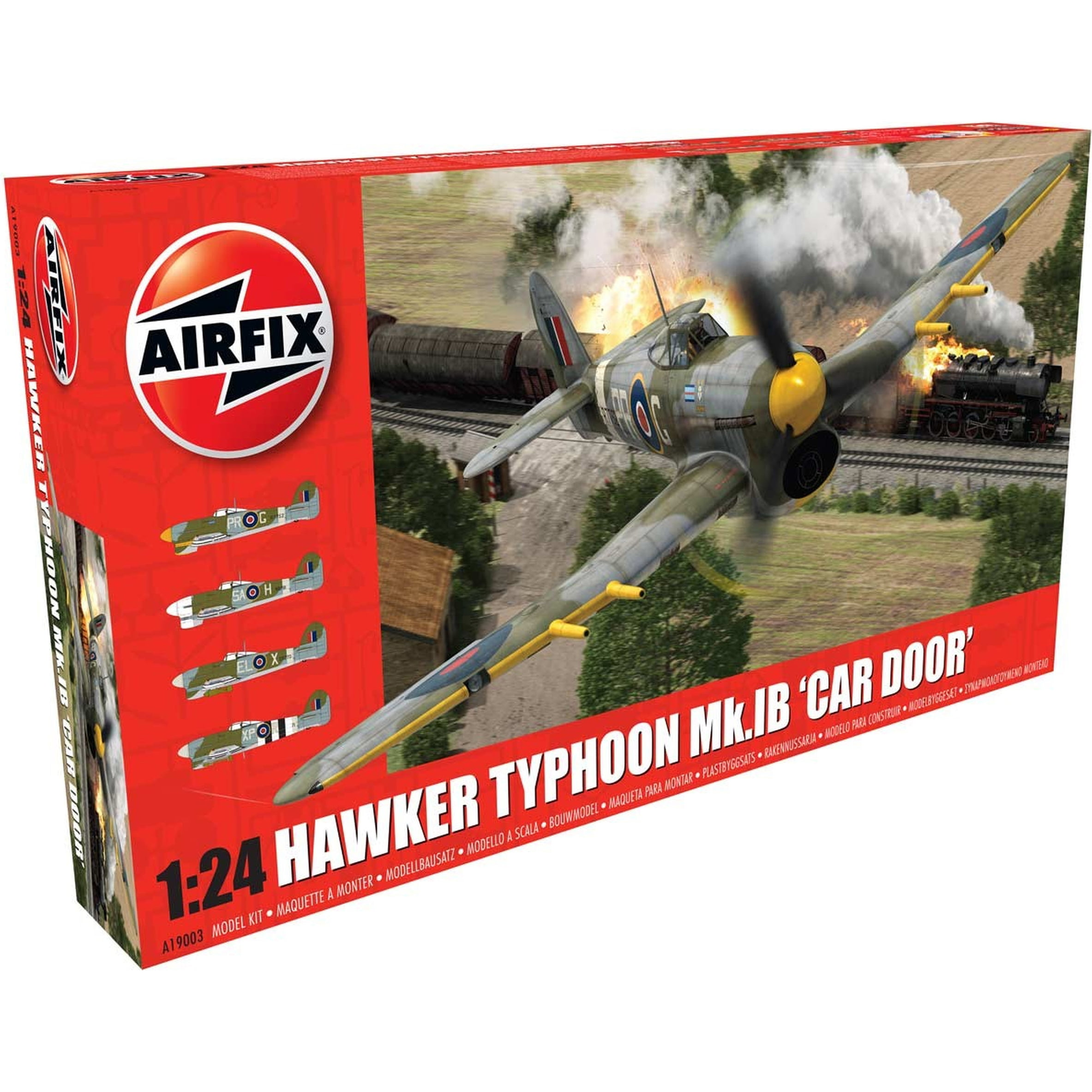 Airfix Hawker Typhoon 1B Car Door 1:24 Military Aircraft Plastic Model Kit by Airfix