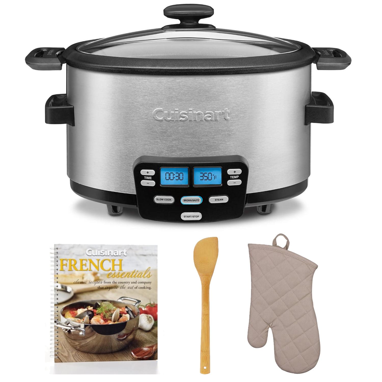 Cuisinart Cook Central 6 quart Slow Cooker + Cookbook, Oven MItt and Spatula