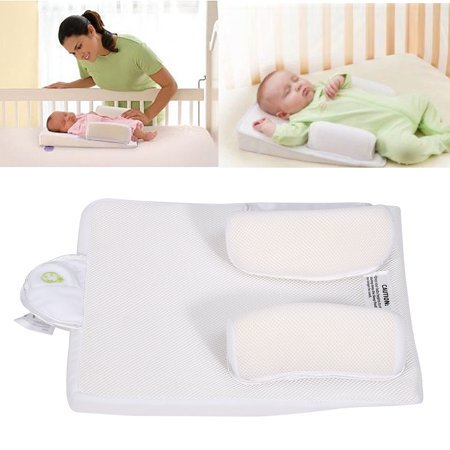 Baby Infant Newborn Sleep Positioner Anti Roll Pillow Prevent Flat Head Cushion Safe Support