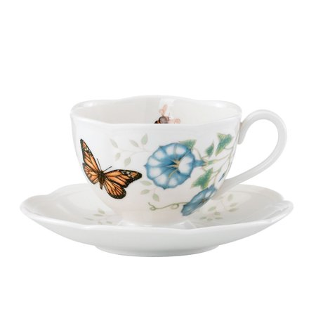 Butterfly Meadow 7-Piece Condiment Set, Lenox Set Butterfly 7Piece porcelain for Inch chipresistant 857701 Hors Dessert Made white Piece Dinnerware by of.., By Lenox Ship from US