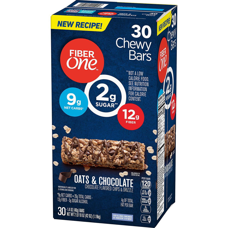 Fiber One Oats & Chocolate Chewy Bars (30 ct.) - Walmart ...