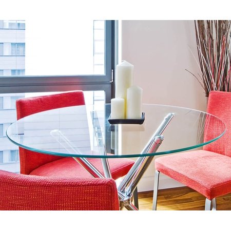 Fab Glass and Mirror 20 inch Round Glass Table Top 1/2 inch Thick Flat Polish Tempered ()