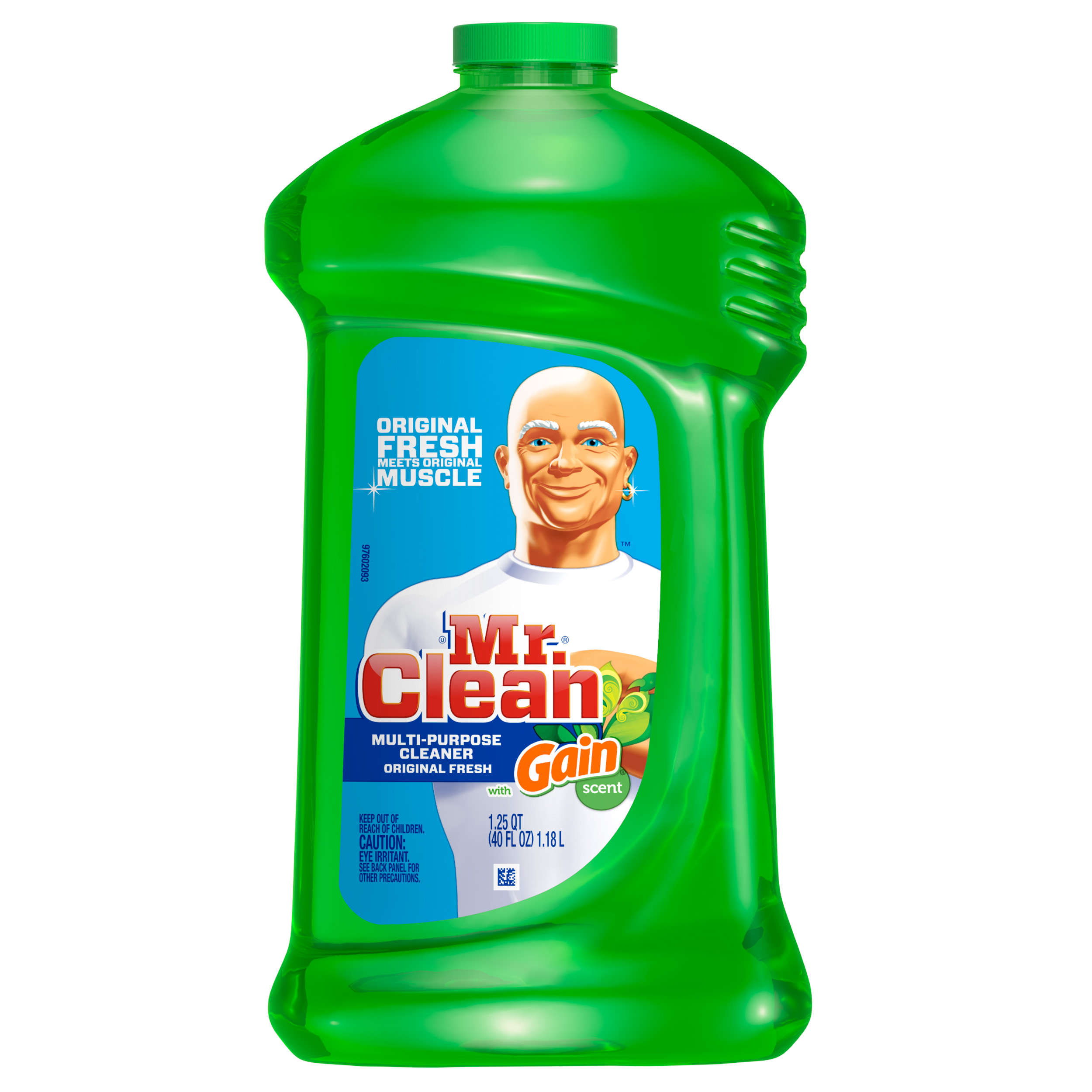 Mr. Clean with Gain Multi-Surface Cleaner, Original Fresh Scent, 40 oz.