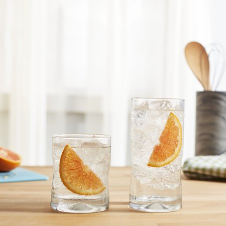 Libbey Impressions 16-Piece Tumbler and Rocks Glass Set ()