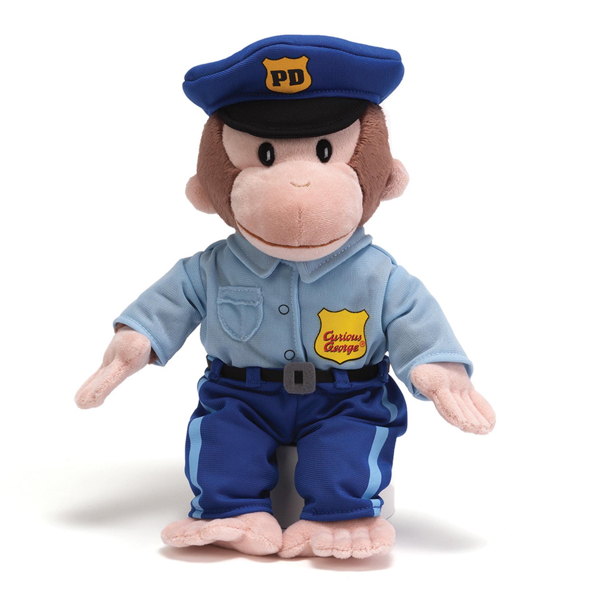 Gund Curious George Policeman Stuffed Animal by Curious George