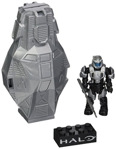Mega Bloks Halo Metallic Platinum Drop Pod Building Set by