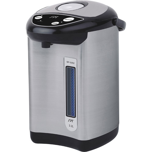 Sunpentown 3.2 Liter Hot Water Dispenser with Re-Boil Function, Stainless Steel