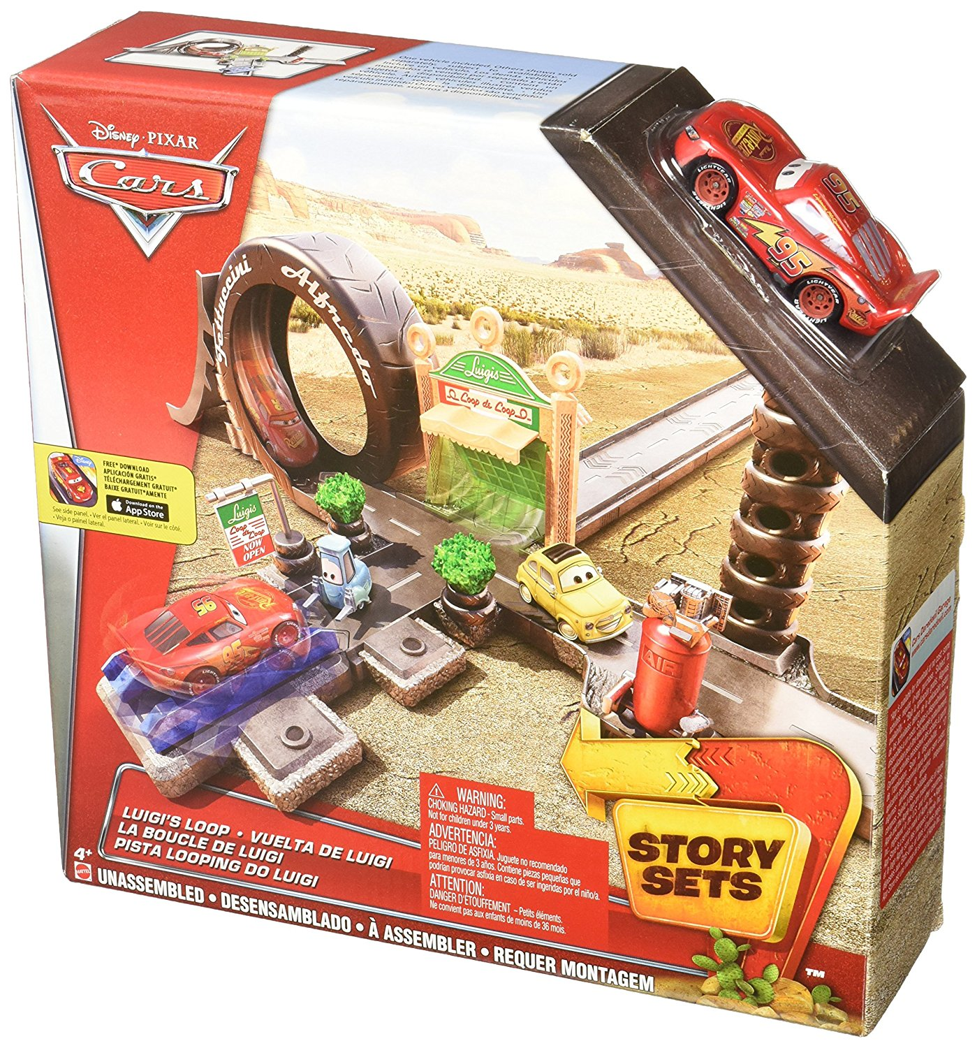 Disney Pixar Cars Sarge's Stuntin' Surplus Playset, Story themed play set features Sarge... by