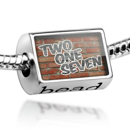 Bead 217 Champaign, IL brick Charm Fits All European Bracelets ()