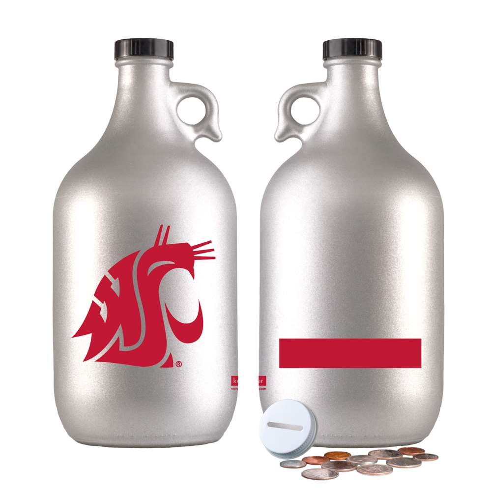 NCAA Washington State Cougars 64 oz Frosted Growler, Silver