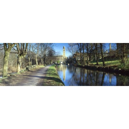 Dirt Road Leading Towards a Mill, Salt's Mill, Leeds and Liverpool Canal, Saltaire, Bradford, We... Print Wall Art