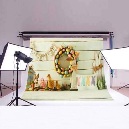 Meigar Baby Easter Theme Photography Backdrop Scene Photo Background for Photographic Background Decoration - Easter Photography Backdrops