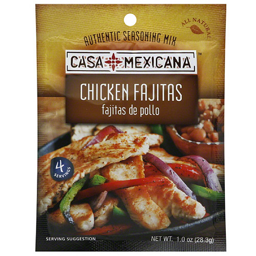 Casa Mexicana Chicken Fajita Seasoning Mix, 1 oz, (Pack of 12)