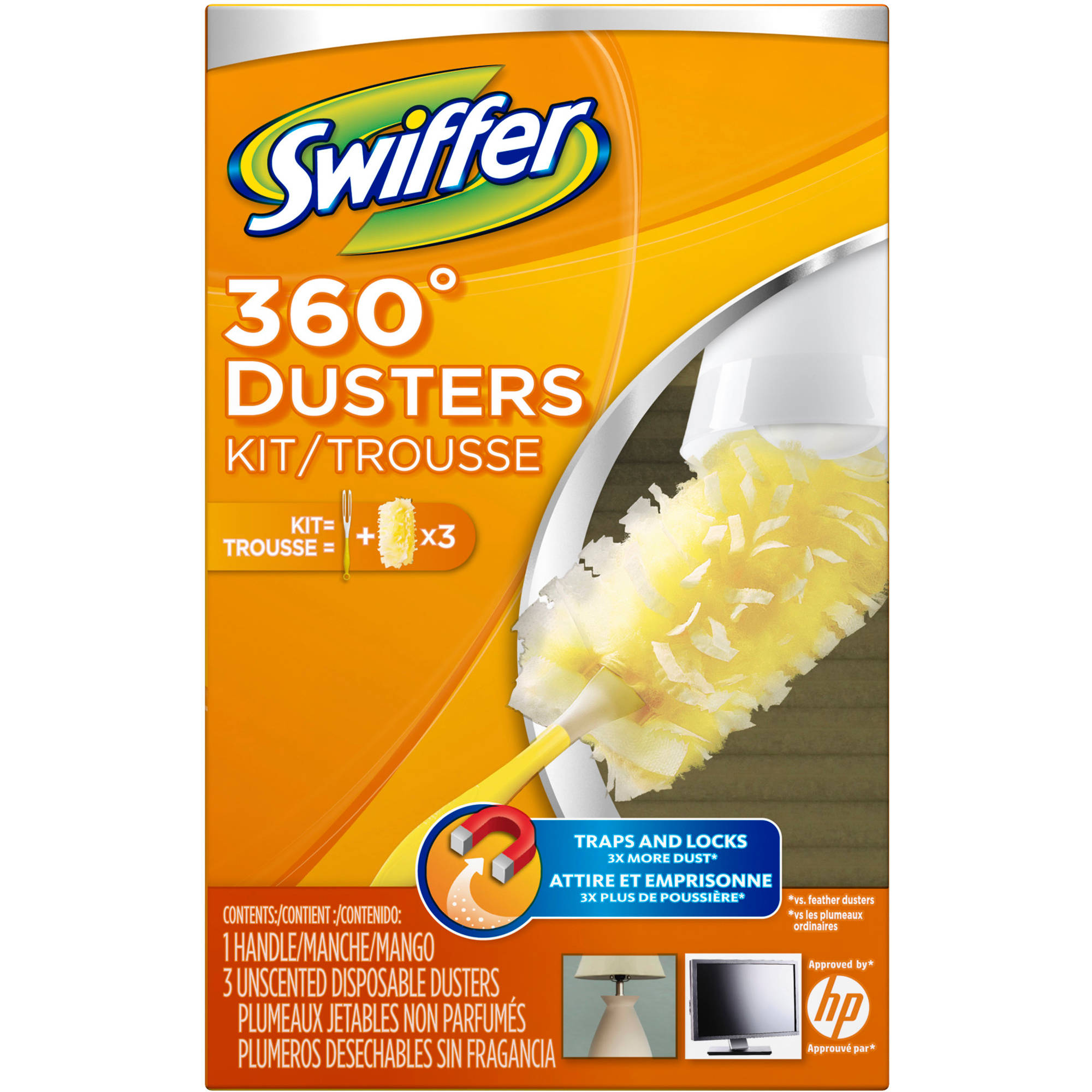 Swiffer 360 Dusters Starter Kit, 4ct