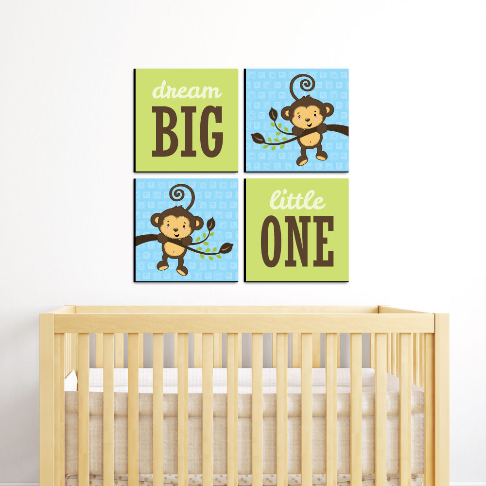 Outstanding Monkey Wall Art For Nursery Pattern - Wall Art ...