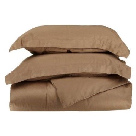 3-PC Solid Taupe Super Soft Microfiber Queen Duvet Bed Cover Set, One (1) Elegant Lightweight Duvet Cover with Two (2) Pillow Shams