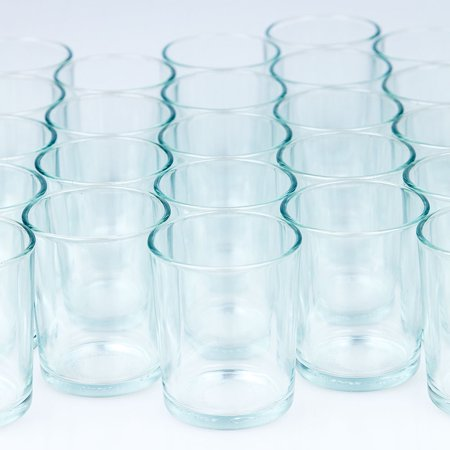 Tea Light Holders (Fantado Votive Tea Light Glass Candle Holders - Clear (2.5 Inches) (24 Pack) by)