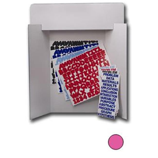 Flipside Products 30858 Pink Project Board Kit - Black Letters and Titles - 24 Pack