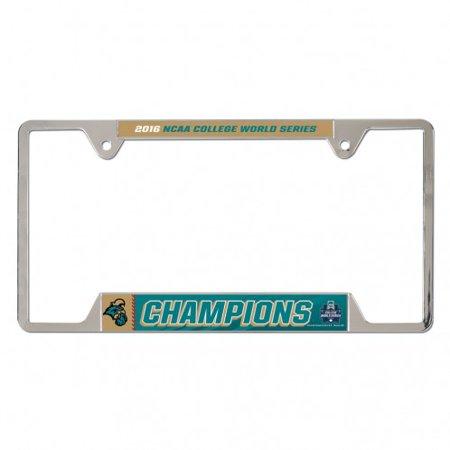Coastal Carolina Chanticleers 2016 Baseball Cws Champions License Plate Frame