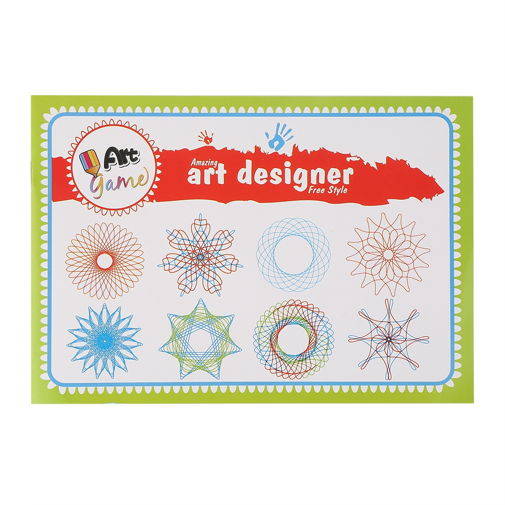 Plastic Geometric Ruler Template Spiral Drawing Tool Art Toy Kids Stationery
