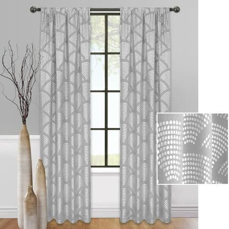 Mainstays Sunrise Metallic Window Curtain Panel](Metallic Curtain)