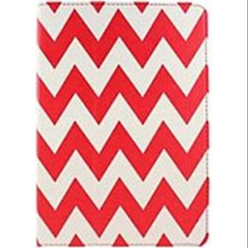 Accellorize 16147 Case for Apple iPad Air Tablet PC - Red Chevron (Refurbished)