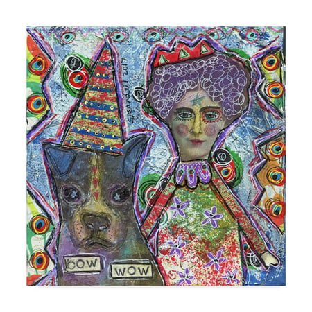 Trademark Fine Art 'Bow Wow' Canvas Art by Funked Up (Bow Wow Wow Go Wild In The Country)