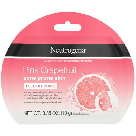 2 Pack - Neutrogena Pink Grapefruit Peel-Off Face Mask for Acne Prone Skin Grapefruit Extract, Non-Comedogenic & (Best Non Comedogenic Foundation Acne Prone Skin)