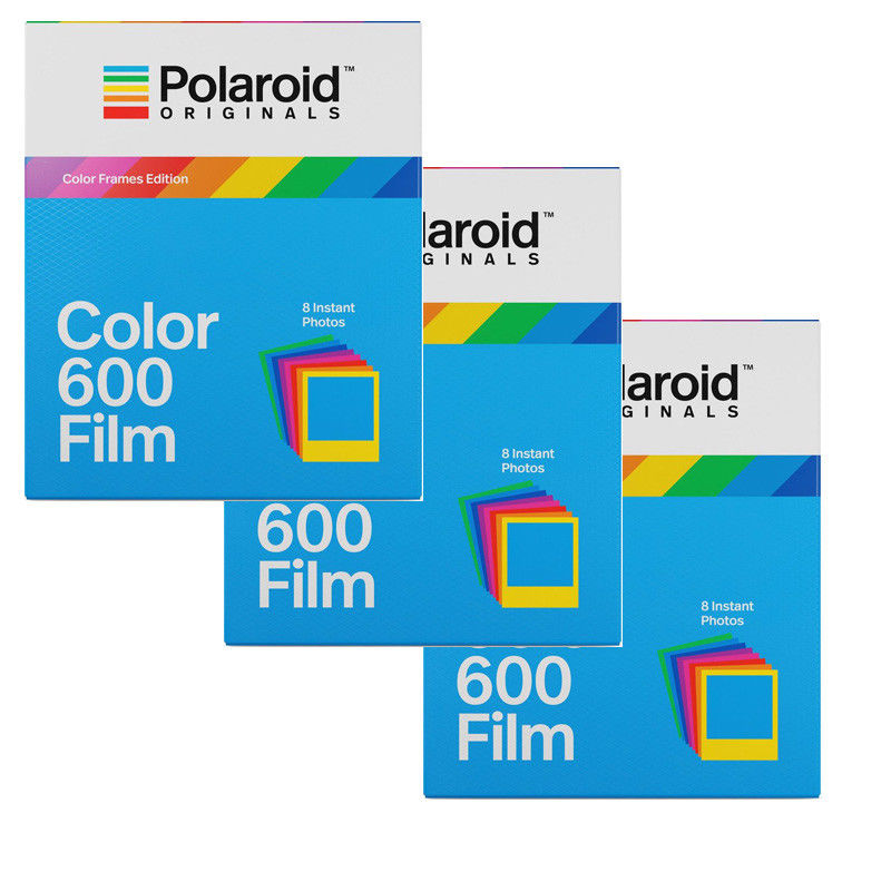 3 X Polaroid Original 4672 Instant Color Film with Color Frame for Polaroid 600