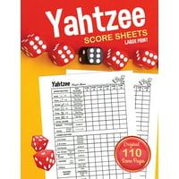 Yahtzee Score Sheets: Large Print Score Pads / Book (Paperback)(Large Print)