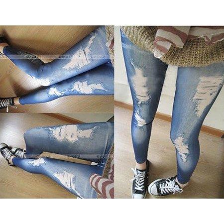 Tripp Denim Leggings (2018 New ripped jeans legging render pants leggings denim tight slim pencil)