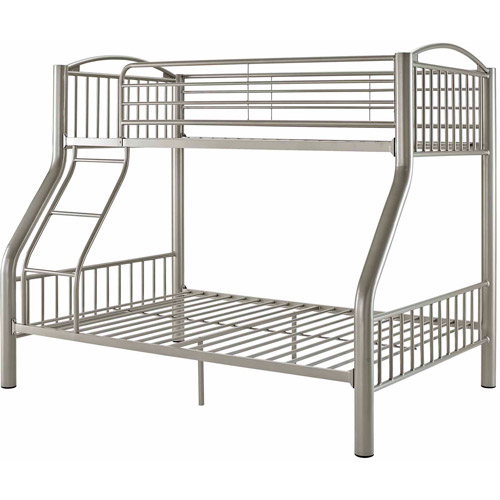 Powell Twin Over Full Metal Bunk Bed, Pewter