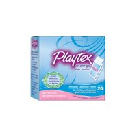 Playtex On-The-Go Personal Cleansing Cloths Singles Light Fresh Scent 20 ct + Yes to Tomatoes Moisturizing Single Use Mask