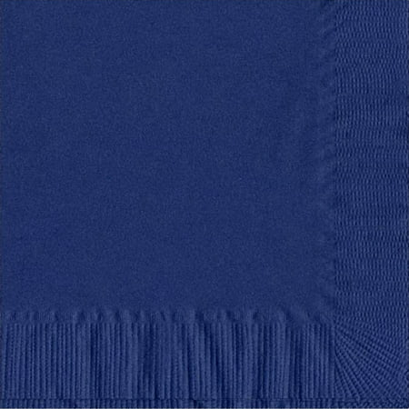 50 Plain Solid Colors Luncheon Dinner Napkins Paper - Navy - Navy Luncheon Napkins