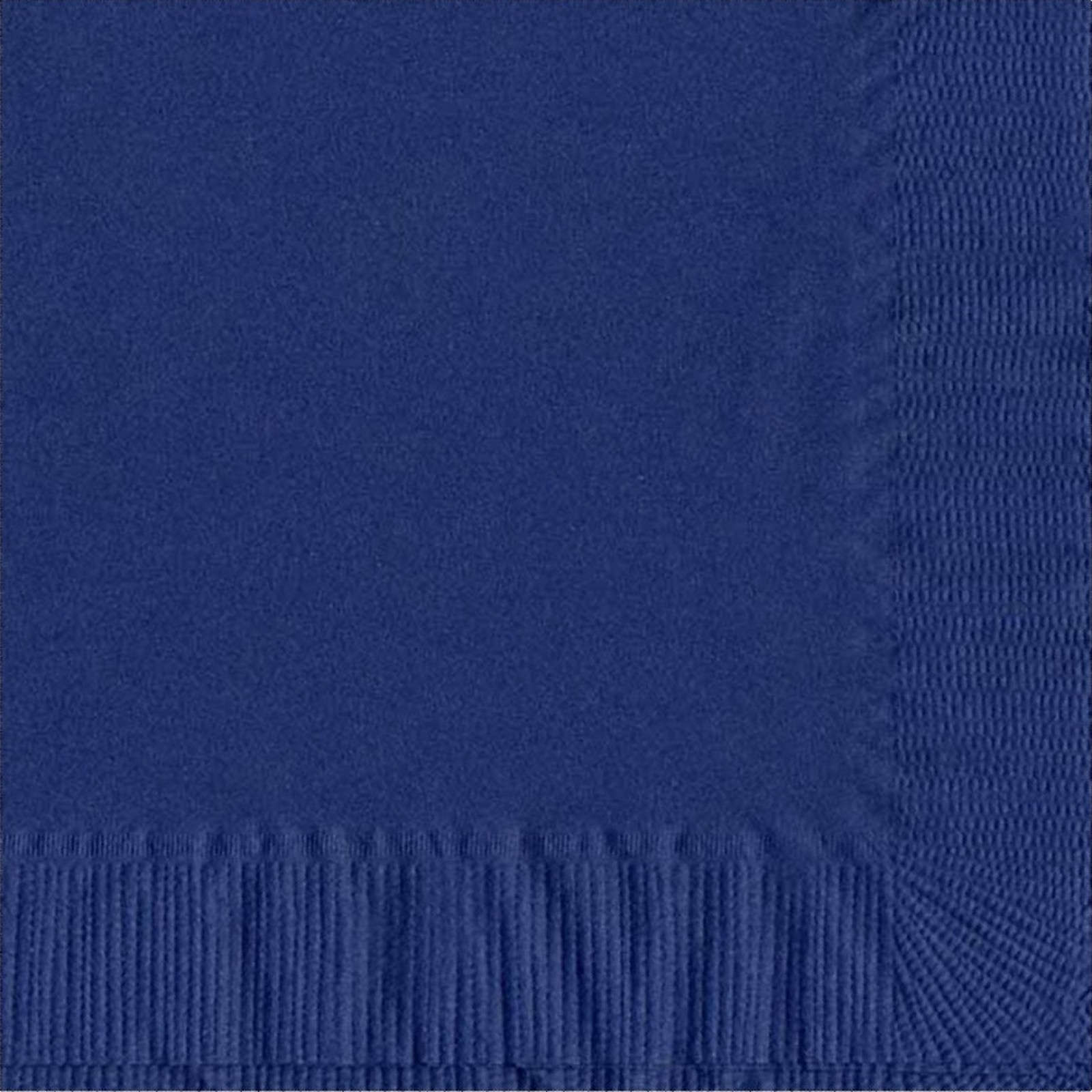 50 Plain Solid Colors Luncheon Dinner Napkins Paper - Navy Blue