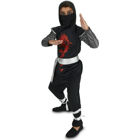 Fire Dragon Ninja Costume (Dark Dragon Ninja Child Halloween)