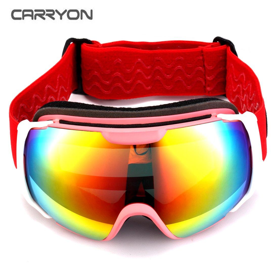 de6fcbec1a9d Carryon Authorized Adult Snowboard Goggles Ski Glasses Spherical Anti-fog  Golden