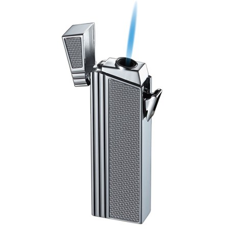 Caseti Silver Double Designed Compact Torch Flame Lighter