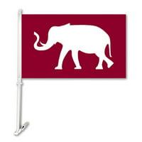 BSI Products NCAA Car Flag with Wall Bracket