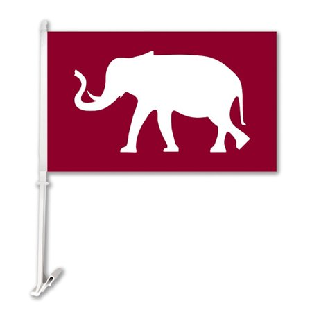 Bsi Products Ncaa Car Flag With Wall Bracket