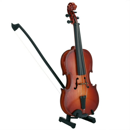Miniature Football Display - TOPINCN Wooden Mini Violin Model Display Musical Ornament Craft Home Office Decor Birthday Gift, Violin Model Gift, Miniature Violin Model