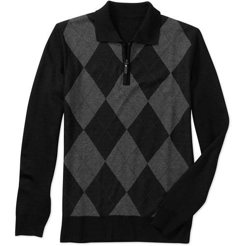 Big Men's Jacquard Polo Sweater